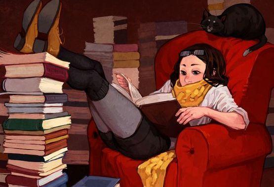 독서는 즐기는 여자