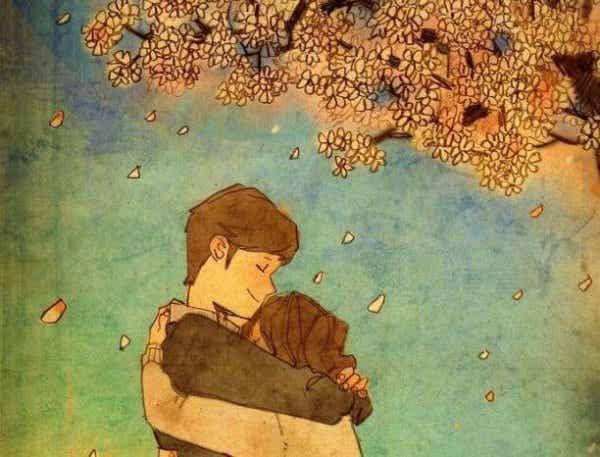세상에서 가장 아름다운 것은 사랑하는 사람을 포옹하는 것