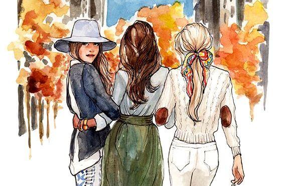 한 마음으로 결합된 자매 관계
