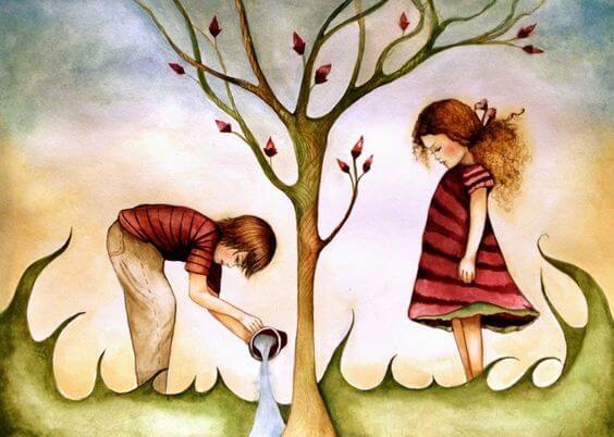 창의성: 나무를 가꾸는 아이들