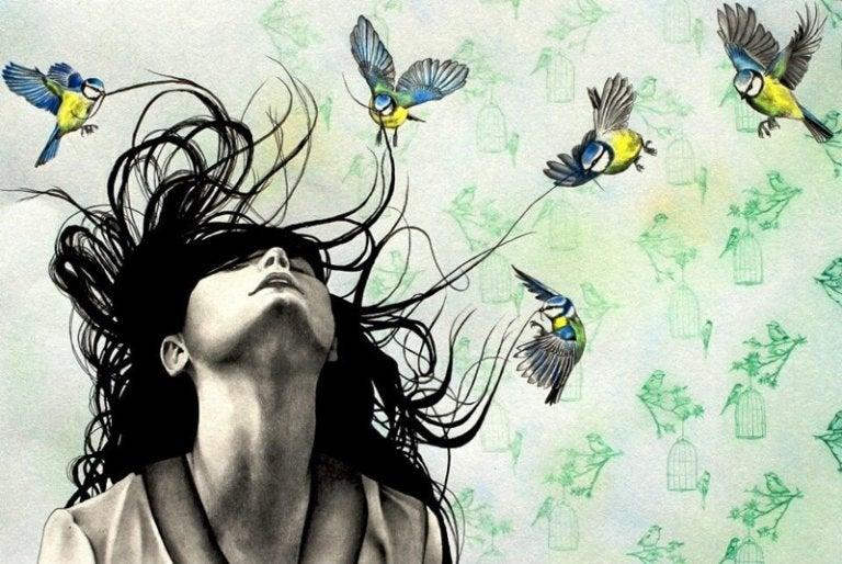 자기 기만: 나비와 여자