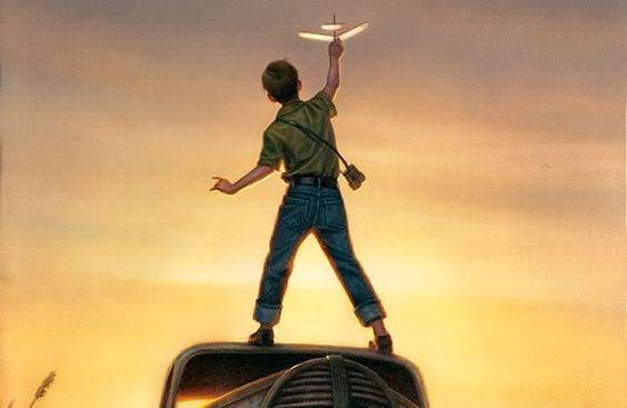 창의성: 비행기를 날리는 소년