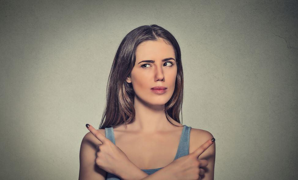 뷔리당의 당나귀: 고민하는 여자