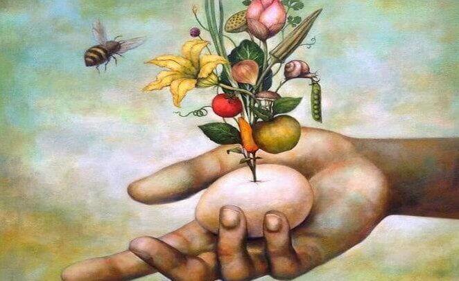 꽃으로 날아오는 벌