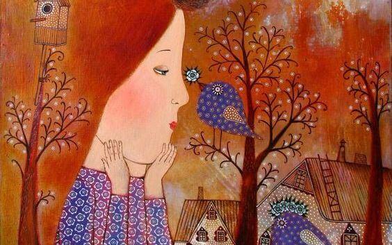 소녀와 새