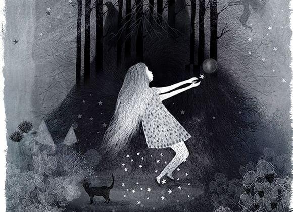 숲 속의 소녀