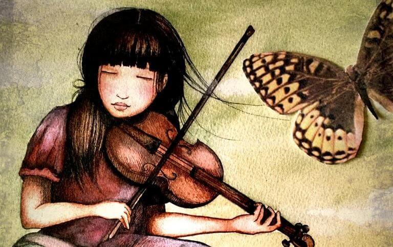 바이올린을 연주하는 소녀