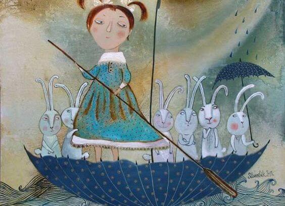 소녀와 토끼들