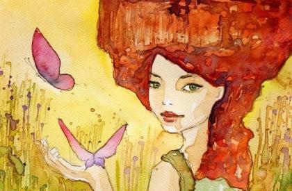 나비와 노는 여자