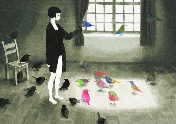 새가 가득한 방