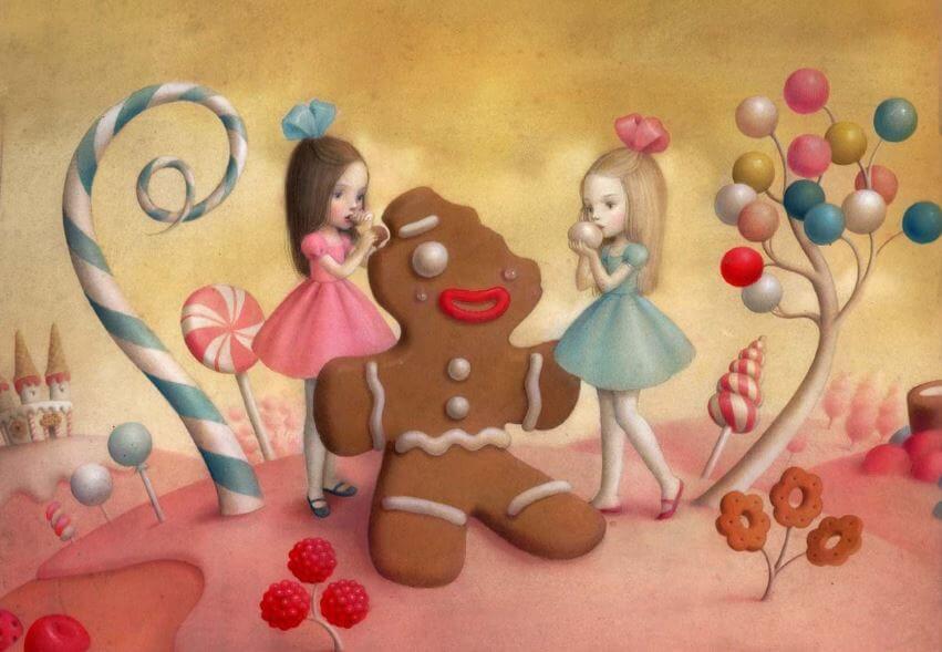 스트레스성 폭식: 쿠키를 먹는 소녀들