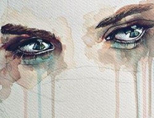 울고 있는 눈