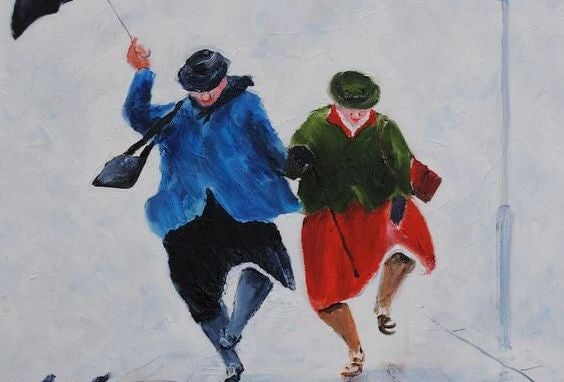 춤추는 노부부