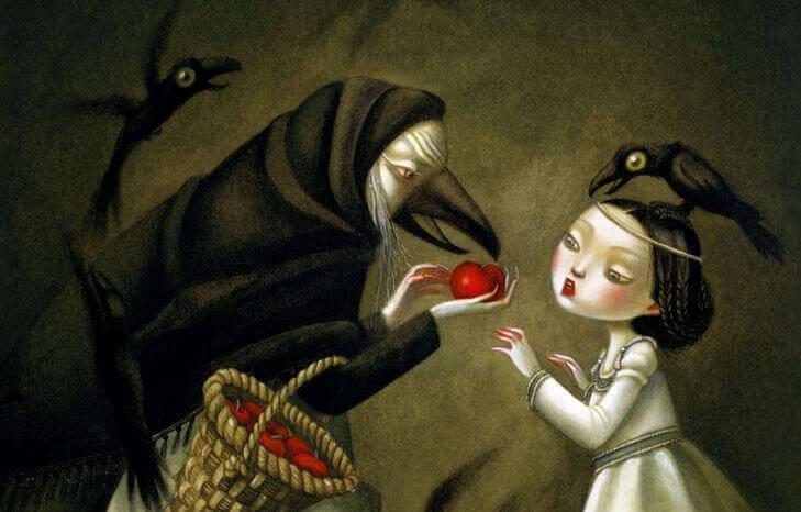 독사과를 든 마녀