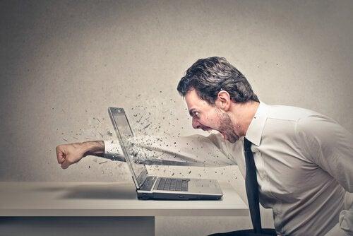 노트북에 펀치하는 남자: 간헐적 폭발 장애, 혹은 분노 조절 장애