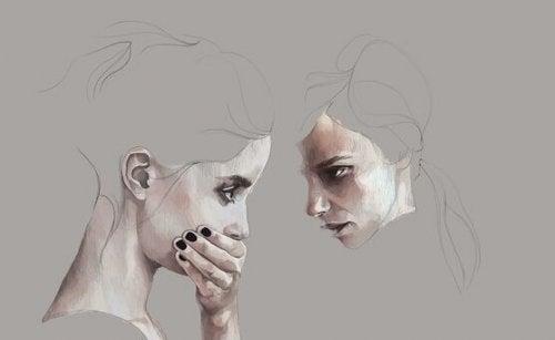 두 여자의 얼굴