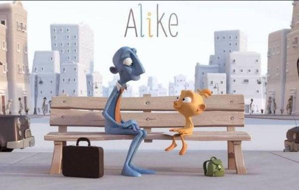 아이들의 창의성이 사라지는 것에 대한 단편 영화: 어라이크(Alike)