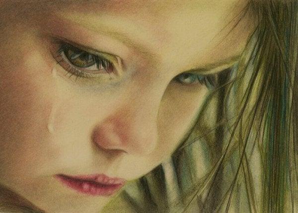 눈물 흘리는 소녀
