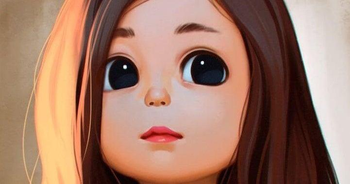 검정 눈의 소녀