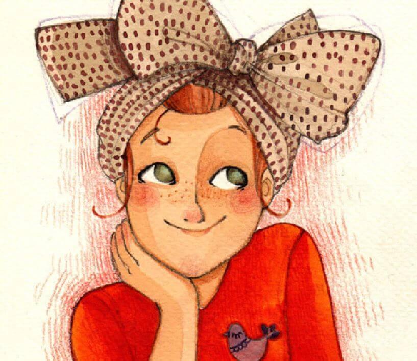웃는여자그림