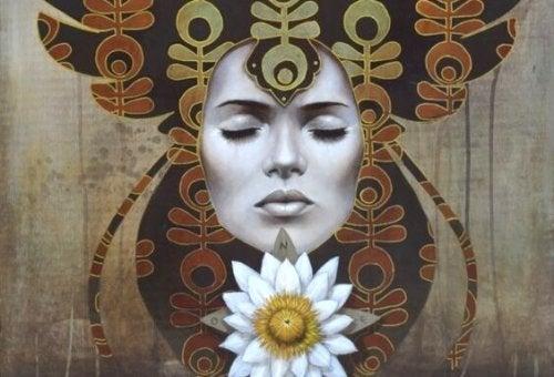 꽃을 상징하는 여자