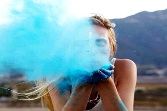 푸른 연기