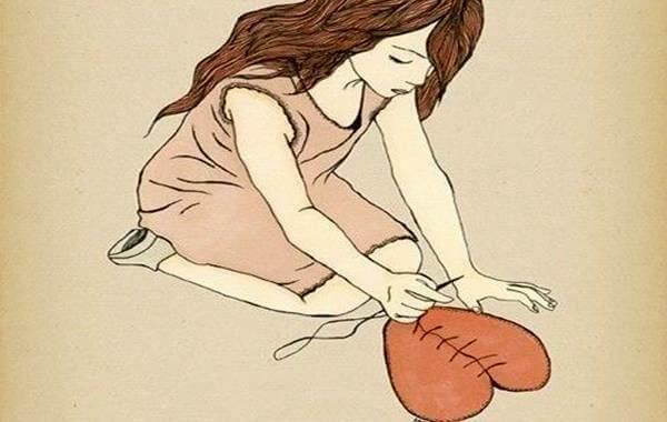 심장을 꿰매는 여자
