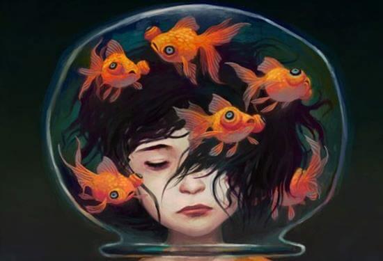 생각하는 여자: 불안한 마음을 가라앉히는 방법