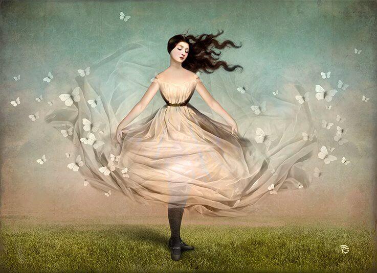 나비와 여자-1