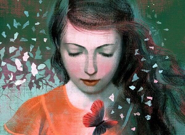 나비와 여자