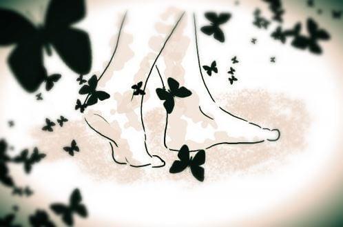 발과 나비; 산책은 걱정을 덜어준다