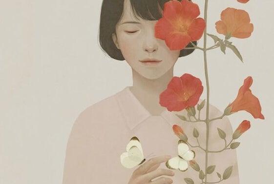 꽃: 착한 사람들은 마음으로 사고하기 때문에 변하지 않는다