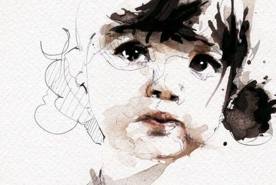 소녀 그림: 가족 관계에서 생기는 마음의 상처