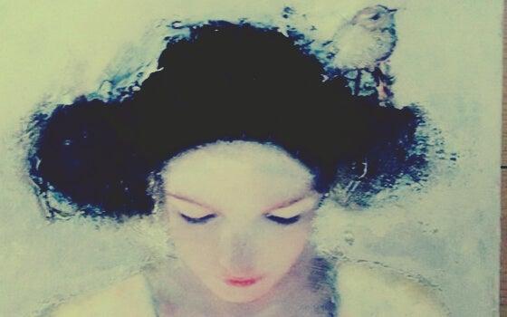 물 속의 여자