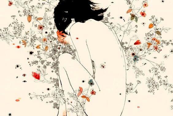 꽃밭에 누운 여자: 나는 사랑이 아닌, 실망감에 지쳤다