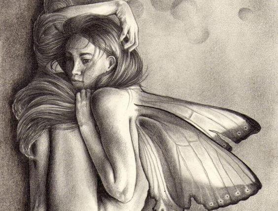 나비 날개가 달린 여인