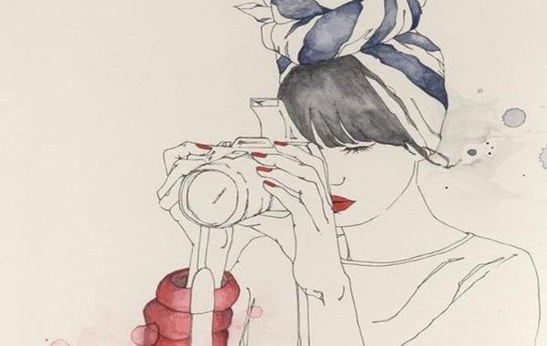 사진 찌는 여인: 싱글이지만 외롭지 않다