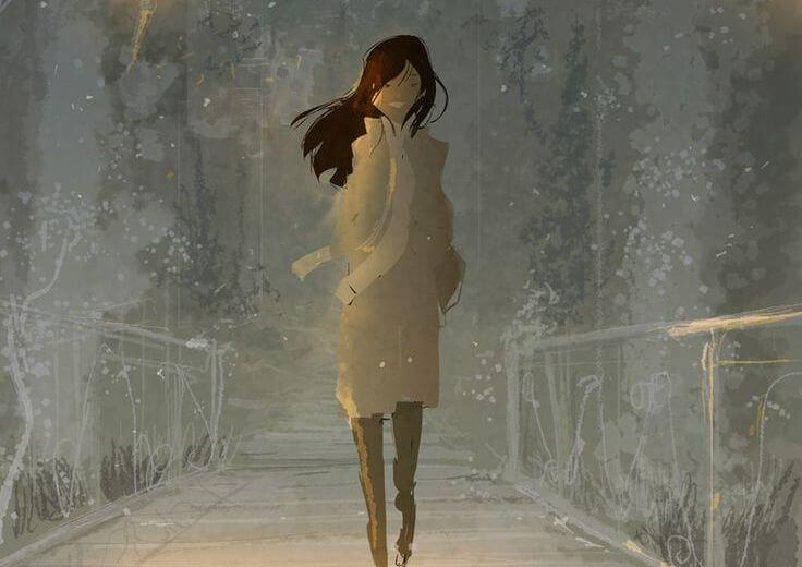 걷는 여인