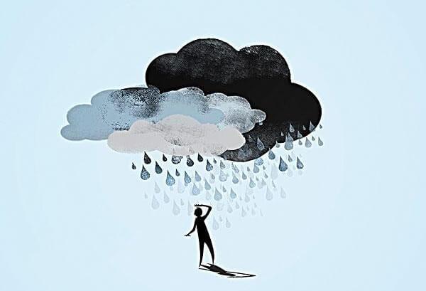 먹구름 사람