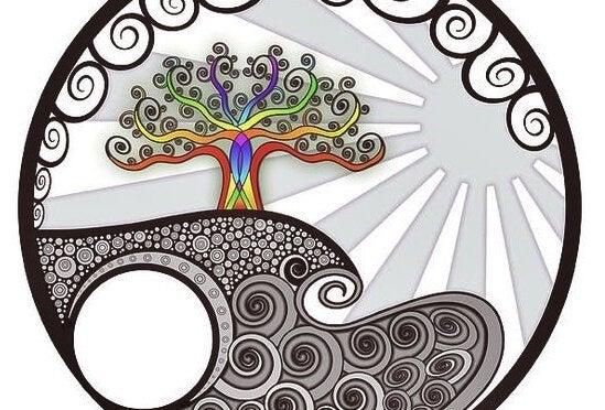 나무 다채로운 그림
