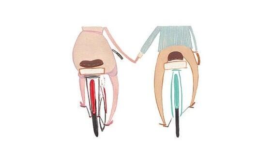 연인 자전거