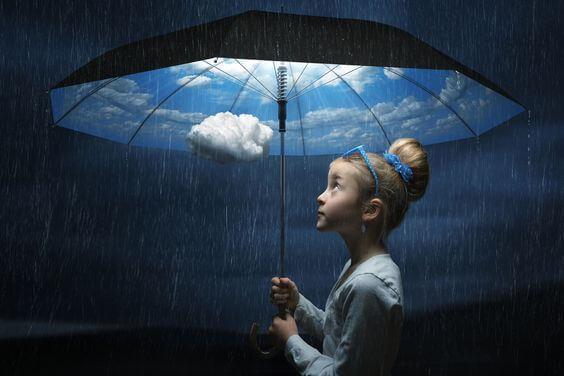 소녀와 우산