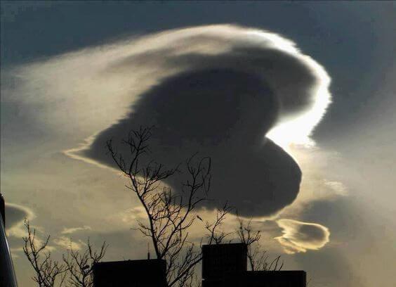 하트 모양 구름
