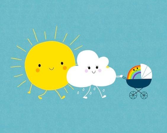 가족을 뜻하는 해구름