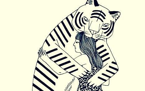 호랑이와의 포옹