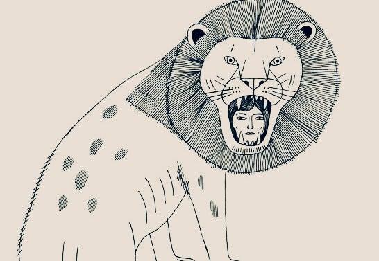 사자 안의 여자