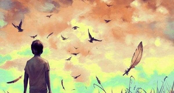 새를 보는 소년