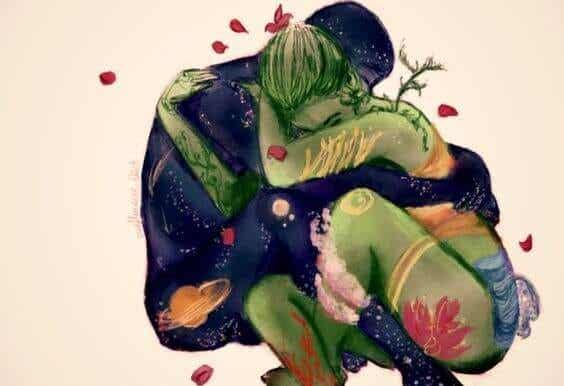 남자는 두려워하고, 여자는 이상주의적이다: 오늘날의 사랑