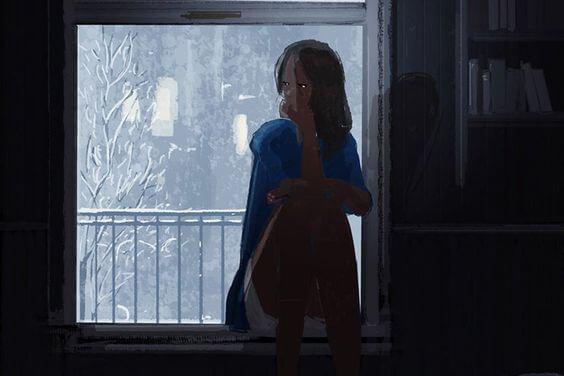어두운 집의 소녀