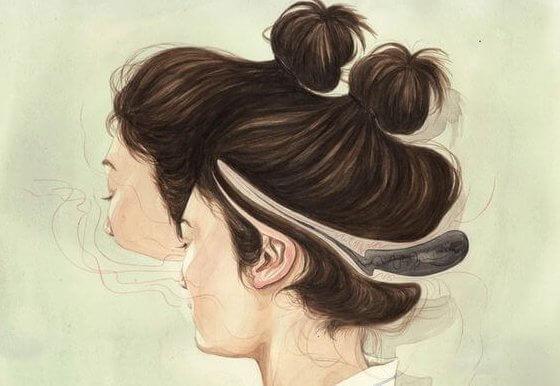 여자의 머리